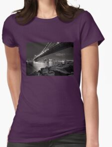 Sleepless Nights And City Lights Womens Fitted T-Shirt