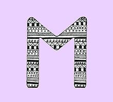 'M' Patterned Monogram by tadvani