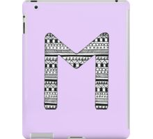 'M' Patterned Monogram iPad Case/Skin