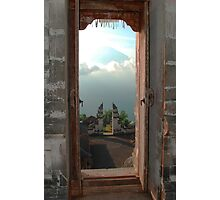 Mt. Agung seen from portals of Lepunyang Temple, Bali, Indonesia Photographic Print