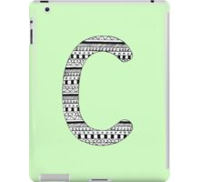 'C' Patterned Monogram iPad Case/Skin