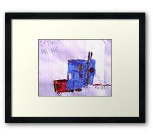 Optimus Prime. Framed Print