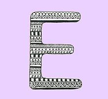 'E' Patterned Monogram by tadvani