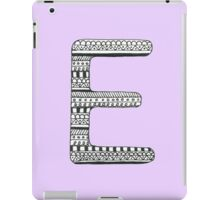 'E' Patterned Monogram iPad Case/Skin