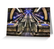Down From A Cloud. Up From The Underground. Greeting Card