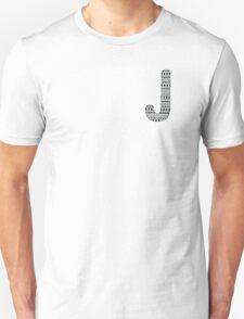 'J' Patterned Monogram T-Shirt