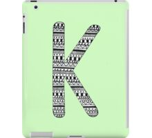 'K' Patterned Monogram iPad Case/Skin