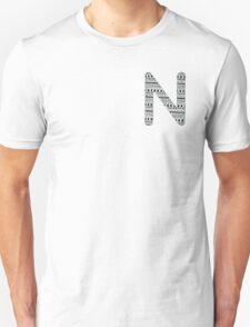 'N' Patterned Monogram T-Shirt