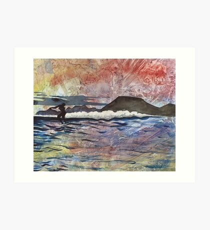 Kodiak Surf Art Print