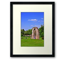 East Window Remains, Old Church at Ticknall Framed Print