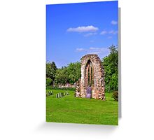 East Window Remains, Old Church at Ticknall Greeting Card
