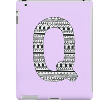 'Q' Patterned Monogram iPad Case/Skin