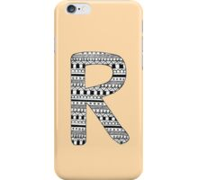 'R' Patterned Monogram iPhone Case/Skin