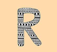 'R' Patterned Monogram by tadvani