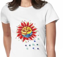 Sun and Moon Love Affair  Womens Fitted T-Shirt