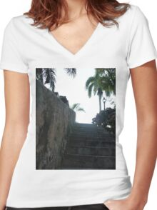 Stony Road Women's Fitted V-Neck T-Shirt
