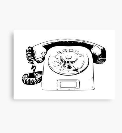Retro Rotary Phone - Dumb Phone Canvas Print