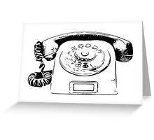 Retro Rotary Phone - Dumb Phone Greeting Card