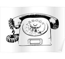 Retro Rotary Phone - Dumb Phone Poster