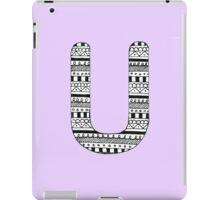 'U' Patterned Monogram iPad Case/Skin
