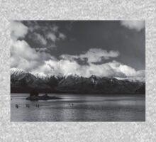 Lake Nahuel Huapi, Patagonia, Argentina (Black & white) Baby Tee