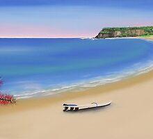 """Bottle Brush"" beach view by Taniakay"