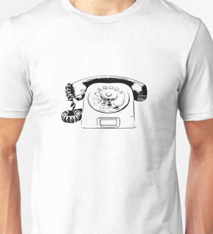 Retro Rotary Phone - Dumb Phone Unisex T-Shirt