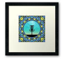 Disc Golf Abstract Basket 5 Framed Print