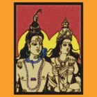 SHIVA AND PARVATI by OTIS PORRITT