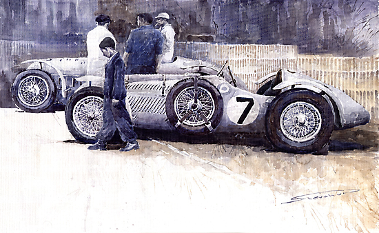 First Met Up Talbot Lago Le Mans 1950 by Yuriy Shevchuk