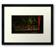 Campus Bridge Framed Print