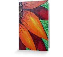 Red Orange Sunflower-detail Greeting Card