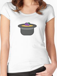 A Single Plum, Floating in Perfume, Served in a Man's Hat Women's Fitted Scoop T-Shirt