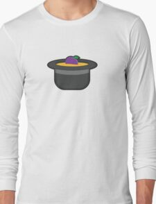 A Single Plum, Floating in Perfume, Served in a Man's Hat Long Sleeve T-Shirt