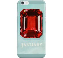 Watercolor Birthstone Gems, January iPhone Case/Skin