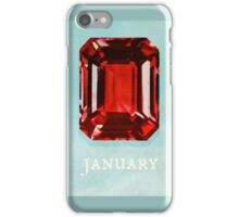 Watercolor Birthstone Gems, January iPhone Case/Skin