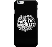 Arctic Monkeys Art Black Background iPhone Case/Skin