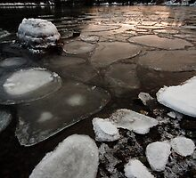 Harbour Ice Floes by Stephen Rowsell