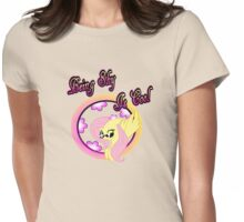 Cool Shy Fluttershy 2 Womens Fitted T-Shirt