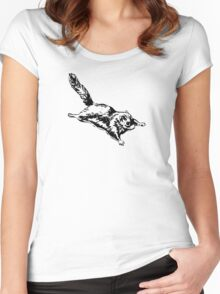 Flying Sugar Glider Women's Fitted Scoop T-Shirt