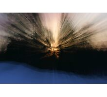 Burst of sunlight in the snow Photographic Print