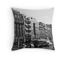 Architecture On The Champs Elysees Throw Pillow