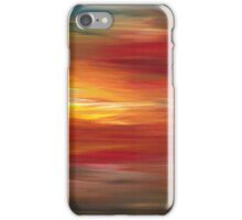 COLOR INTOXICATION 1 Colorcul Bold Deep Garnet Crimson Red Yellow Black Sunrise Sunset Ombre Abstract Acrylic Painting iPhone Case/Skin