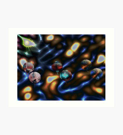 Fancy Cosmic Lanterns Go Ballistic Art Print