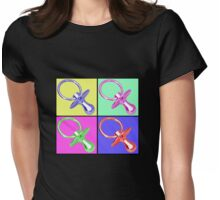Baby Pacifier/Dummy Maternity Tee, Warhol-style Womens Fitted T-Shirt