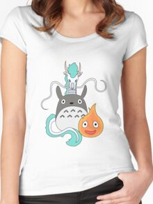 A tribute to Hayao Miyazaki (Updated) Women's Fitted Scoop T-Shirt