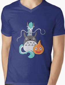 A tribute to Hayao Miyazaki (Updated) Mens V-Neck T-Shirt