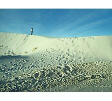 Photographing White Sands Photographic Print