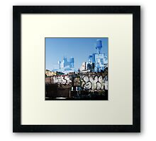 Cityscript Framed Print