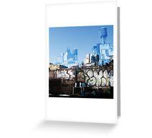 Cityscript Greeting Card